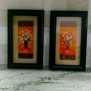 Flower Vase small pictures set of 2